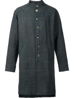 collarless zipped coat By Walid