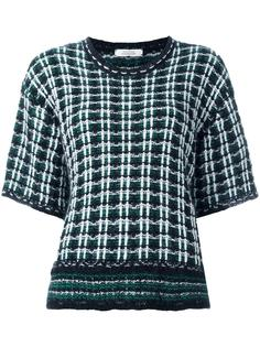 checked couture knit T-shirt Dorothee Schumacher