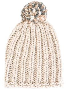 шапка-бини с помпоном Danielapi