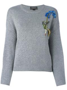 джемпер с цветочной вышивкой из пайеток Giambattista Valli