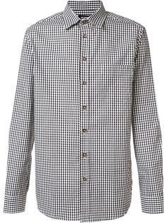 checked button down shirt Raf Simons