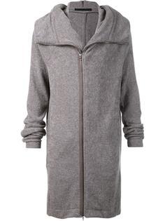 asymmetric zip hooded jumper  Julius