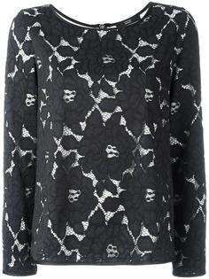 paneled roses blouse Steffen Schraut