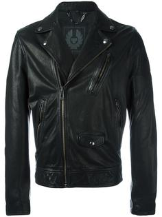 zip up biker jacket Belstaff