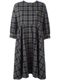платье в клетку Maison Kitsuné