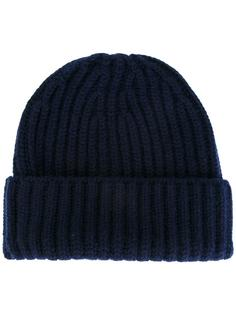 кашемировая шапка-бини в рубчик Danielapi