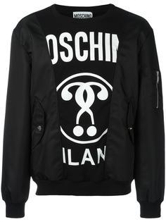 bomber patchwork sweatshirt Moschino