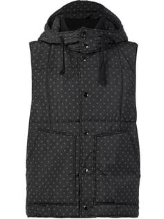 polka dots hooded gilet Engineered Garments