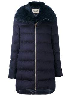 стеганое пальто с меховым воротником Herno