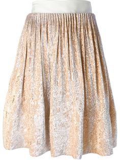 юбка со сборкой и металлическим отблеском Maison Rabih Kayrouz