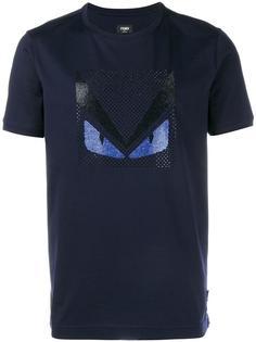 футболка с украшением из кристаллов Fendi