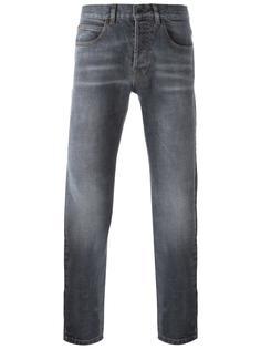 джинсы кроя слим с потертой отделкой Eleventy