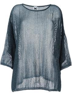 прозрачный свитер с блестящей отделкой M Missoni
