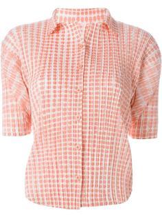 рубашка с гофрированным дизайном  Issey Miyake Vintage