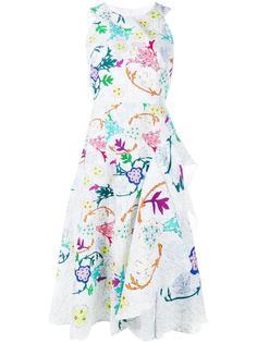 платье со складками и цветочным узором Peter Pilotto