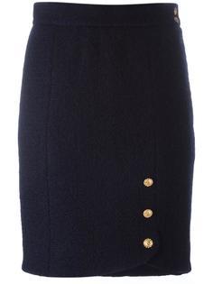 юбка с декоративными пуговицами Chanel Vintage