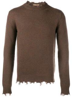 свитер с необработанными краями   Etro