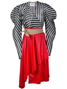 структурированное платье в полоску  A.W.A.K.E