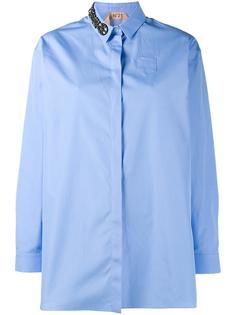 рубашка с декорированным воротником  Nº21