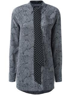 блузка с принтом змеиной кожи  Equipment