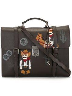 сумка-почтальонка с аппликацией Dolce & Gabbana