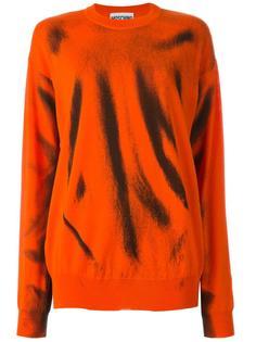 свитер с абстрактным принтом  Moschino