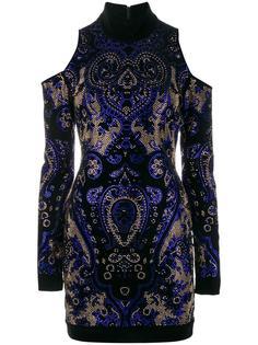 платье с открытыми плечами  Balmain
