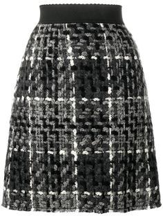 мини юбка в клетку Dolce & Gabbana