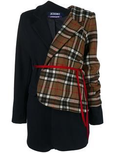 асимметричный пиджак в клетку Jacquemus