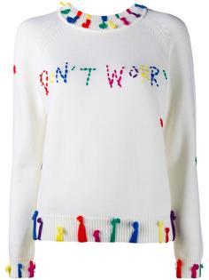 don't worry crew neck sweater Mira Mikati