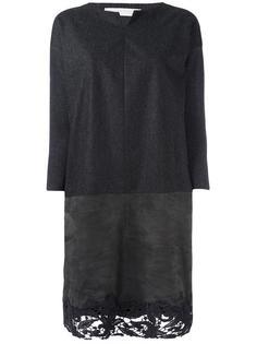 платье с кружевным подолом  Fabiana Filippi