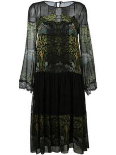 платье с длинными рукавами  Alberta Ferretti