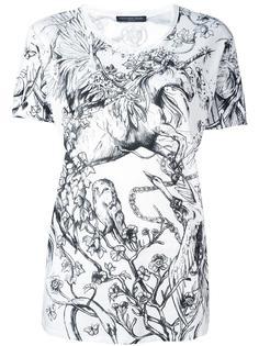 футболка с принтом Alexander McQueen