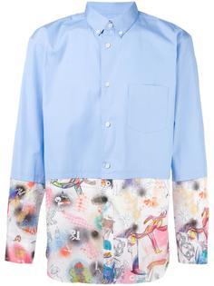 рубашка лоскутного кроя Comme Des Garçons Shirt