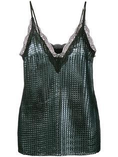 блузка 'Chainmail' с эффектом металлик House Of Holland