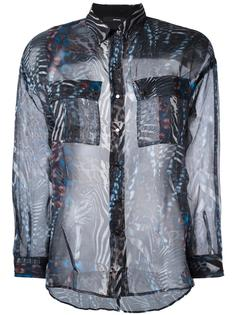 прозрачная рубашка с узором Diesel
