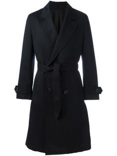 двубортное пальто с поясом Ami Alexandre Mattiussi