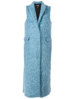 длинное пальто без рукавов MSGM
