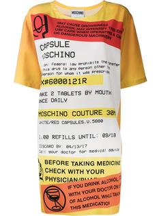 платье шифт с принтом 'prescription' Moschino