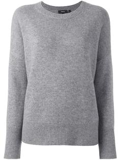 кашемировый пуловер свободного кроя Theory