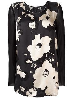 блузка с контрастными рукавами Twin-Set