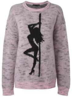 свободный жаккардовый свитер  Alexander Wang
