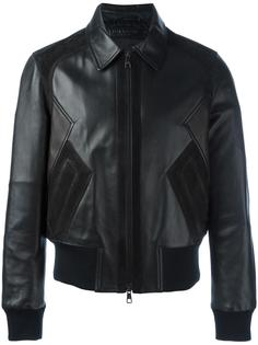 кожаная куртка на молнии Neil Barrett