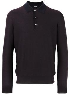 кашемировая рубашка-поло с длинными рукавами Malo