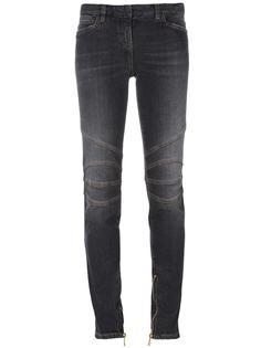 джинсы скинни со строчкой на коленях Balmain