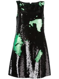 платье-шифт с пайетками Emporio Armani
