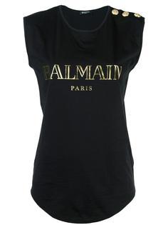 футболка с логотипом Balmain