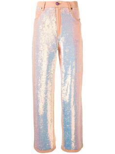 расклешенные брюки с пайетками Ashish