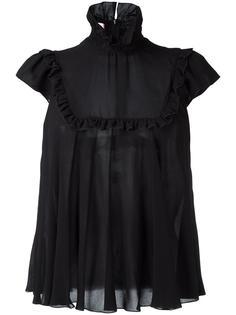 блузка с высоким воротом Giamba
