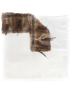 шарф с меховой отделкой  Cutuli Cult